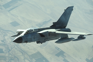 A  French air force Tornado GR4A aircraft conducts a combat patrol over Afghanistan Dec. 11, 2008. (U.S. Air Force photo by Staff Sgt. Aaron Allmon/Released)