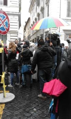 Roma, piazza SS Apostoli, manifestazione contro il terrorismo