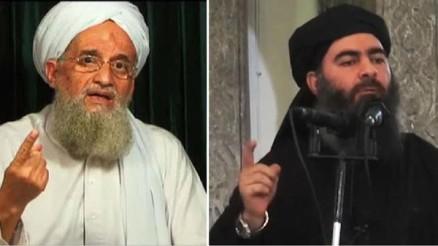 """Il leader di al Qaeda al Zawahiri e il """"califfo"""" al Baghdadi"""