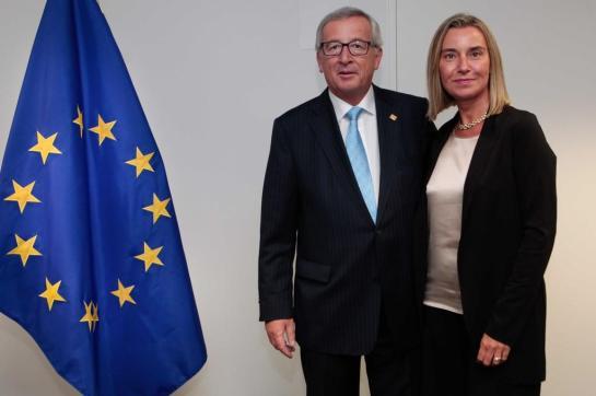Jean Claude Juncker e Federica Mogherini
