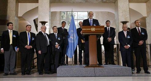 La delegazione del governo siriano a Ginevra